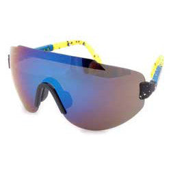 steez blue yellow sunglasses