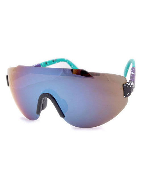 steez purple aqua sunglasses