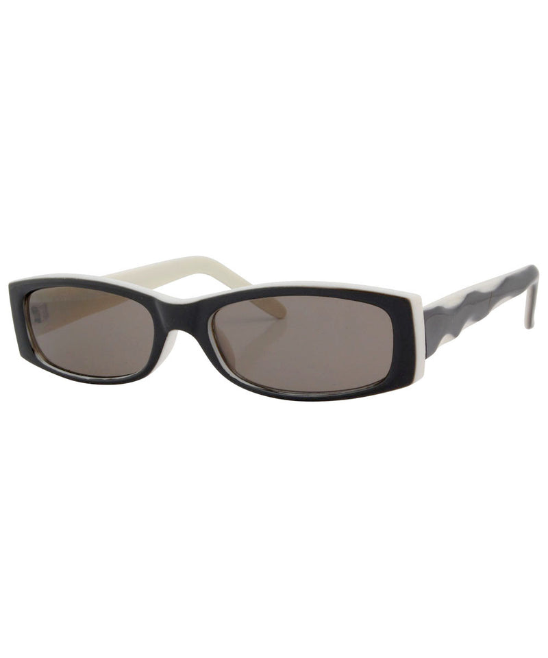stinker black white sunglasses