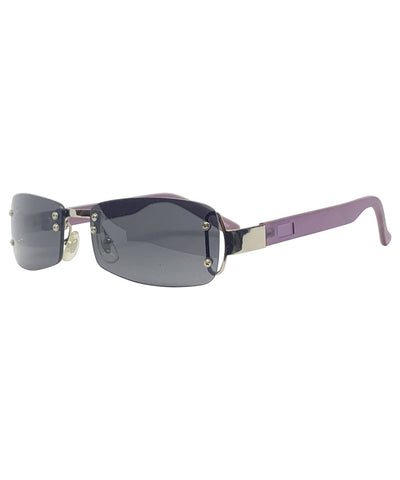 STONED Smoke and Purple Frameless Sunnies