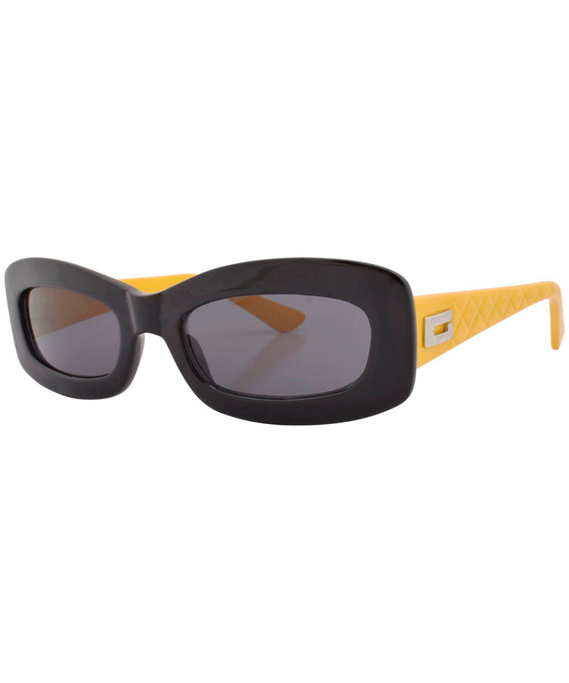 stones black yellow sunglasses