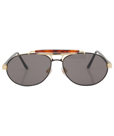 submerge black gold sunglasses