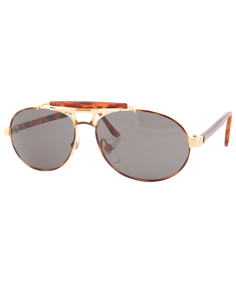 submerge gold sunglasses