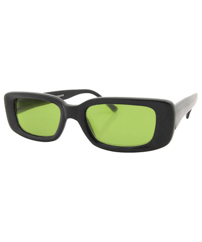 suck it black green sunglasses