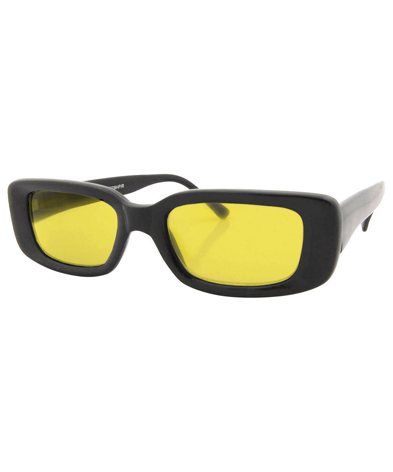 suck it black yellow sunglasses