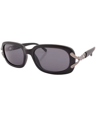 sunday matte black sunglasses