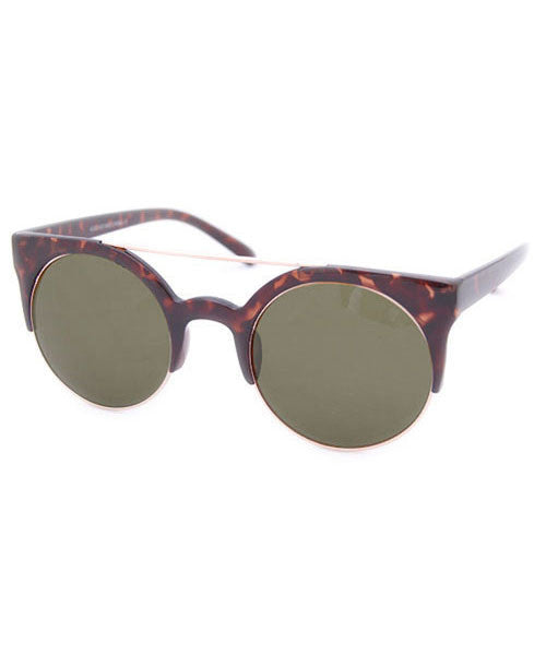 sweetie tortoise green sunglasses