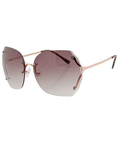 sweetness gold smoke sunglasses
