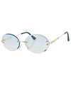 SWEET DEE Blue Rimless Sunglasses