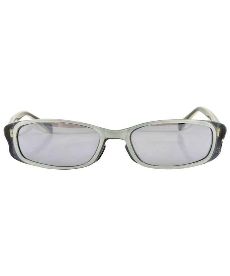 SWIZZLE Black/White Square Sunglasses
