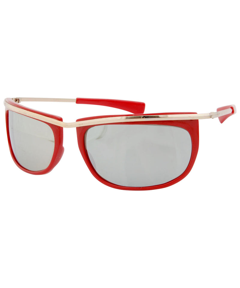 swizz red gold sunglasses