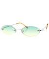 sylvian green yellow sunglasses