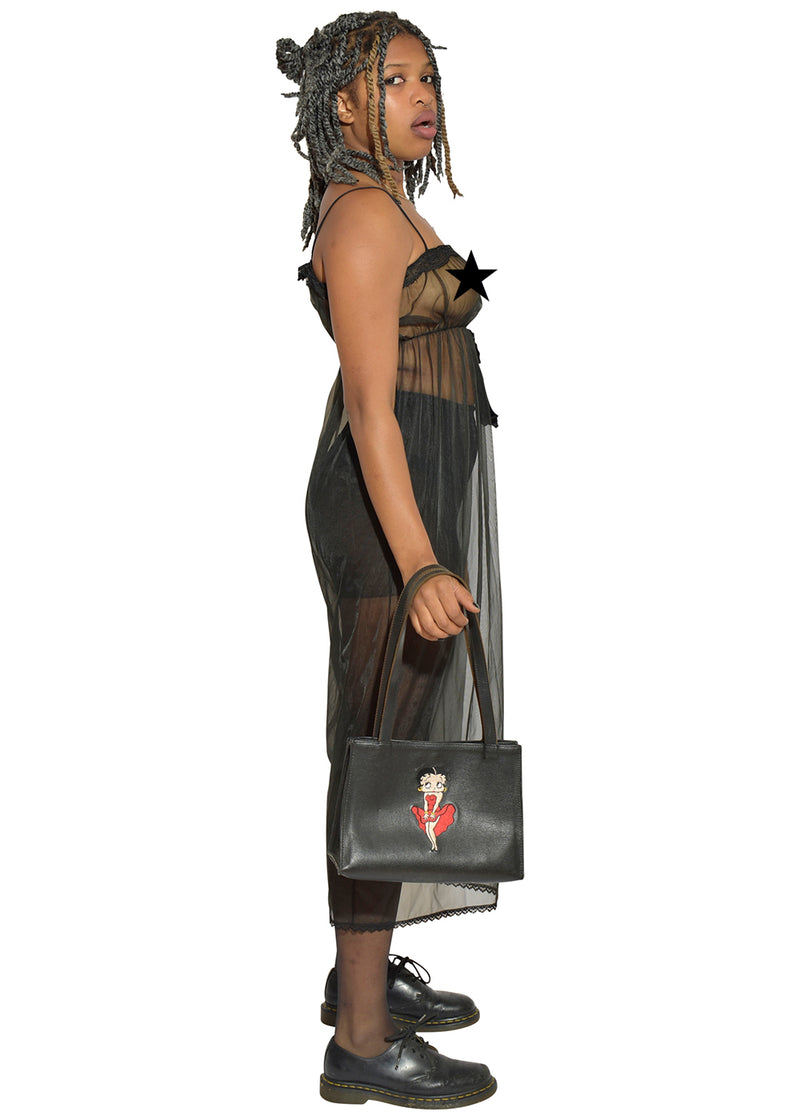 Sheer Black Good Time Dress & Betty Boop Leather Purse