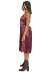 Silk Worm Cranberry Dress