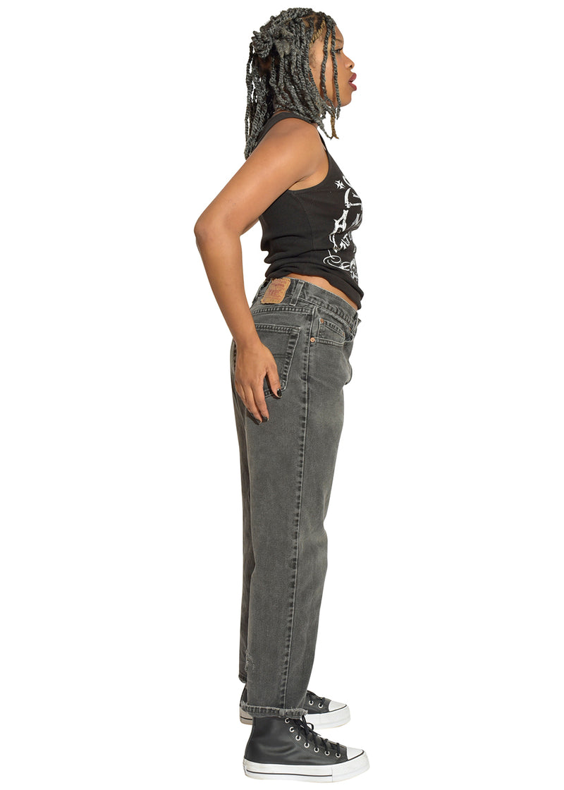 Sons of Anarchy Tank Top & Black Levi's Mom Jeans