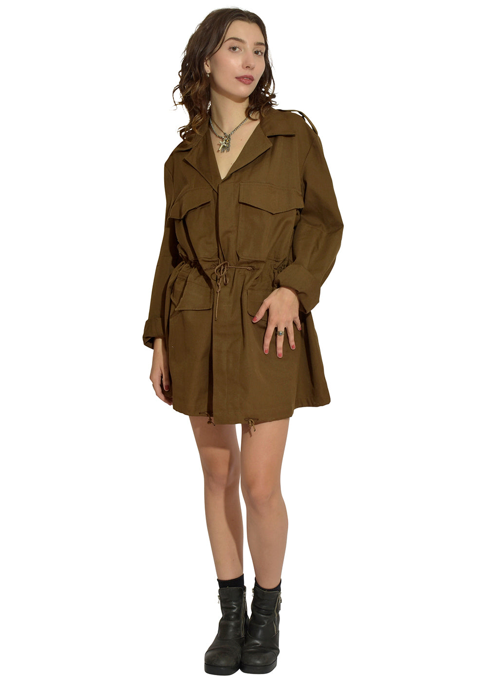 Swampi Brown Trench Dress