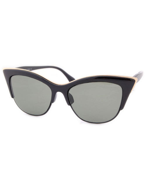 tamara black green sunglasses