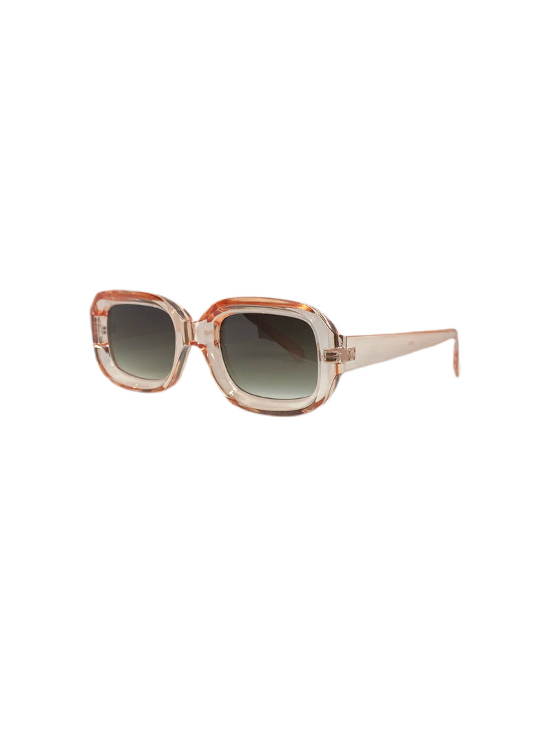 THE BOX Crystal Peach Square Sunnies