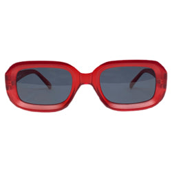 THE BOX Black Cherry Large Square Sunnies