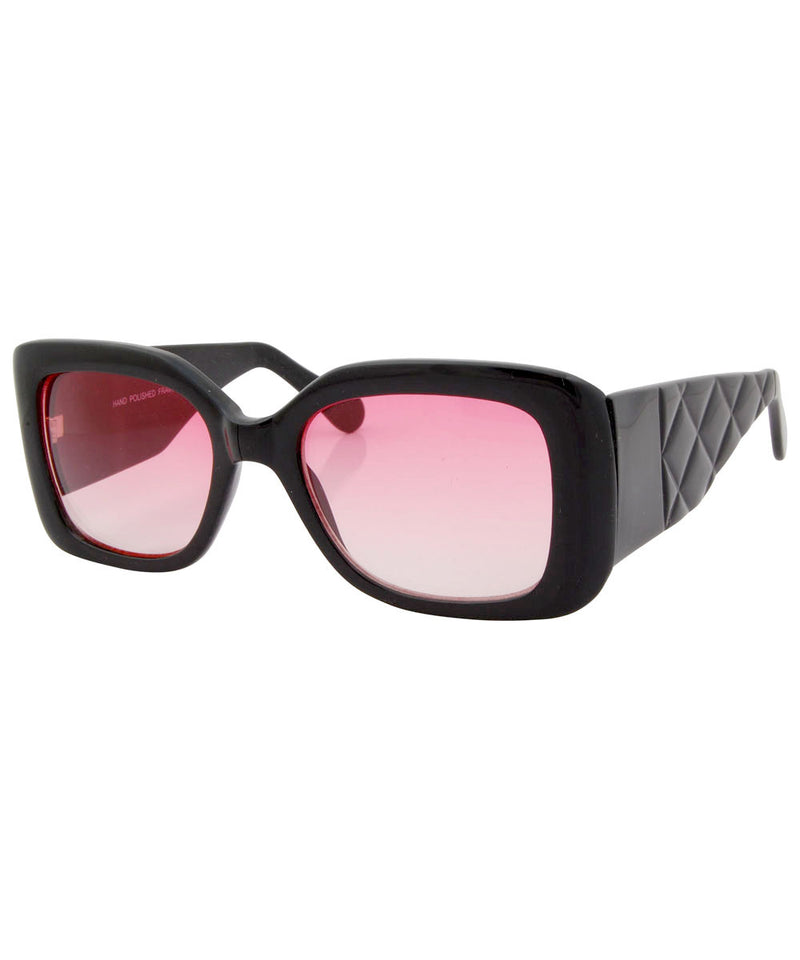 the ish black pink sunglasses