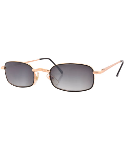 tipz gold smoke sunglasses