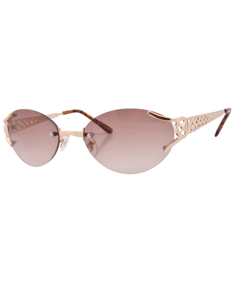 tish gold brown sunglasses