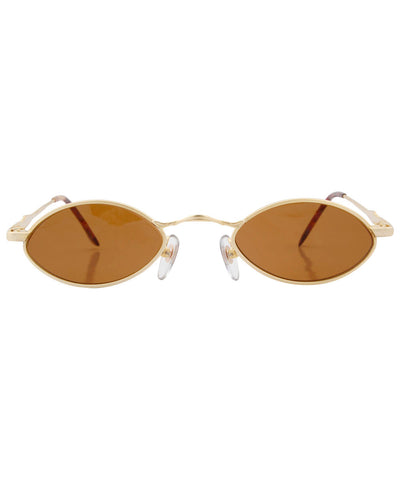 toggle gold sunglasses