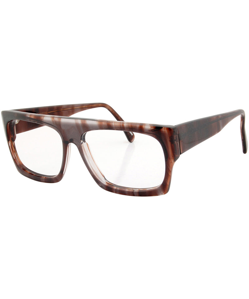towers brown clear sunglasses
