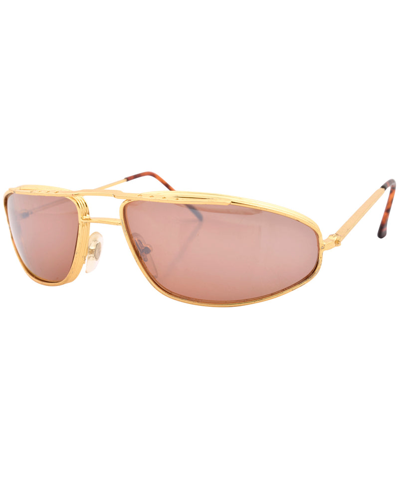 tremble gold sunglasses