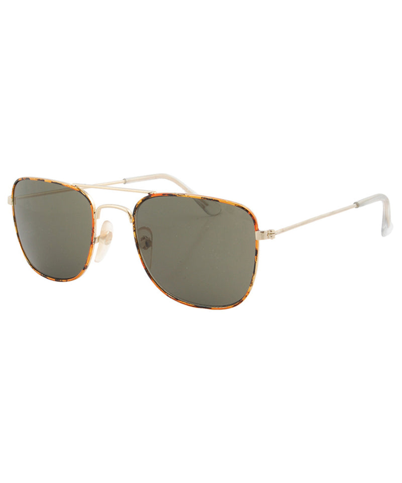 trench gold sunglasses