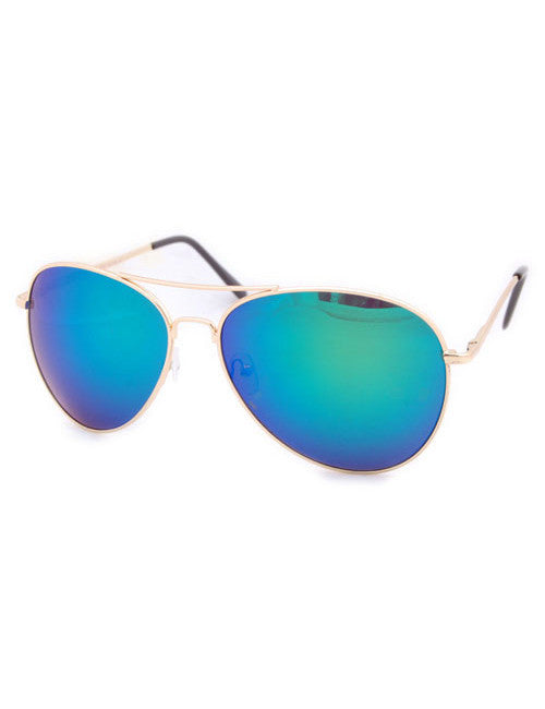 tripwire gold aqua sunglasses