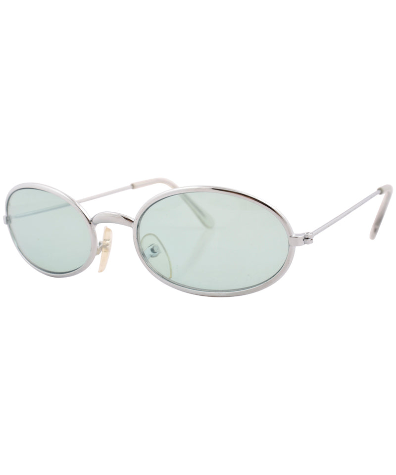 u turn silver green sunglasses