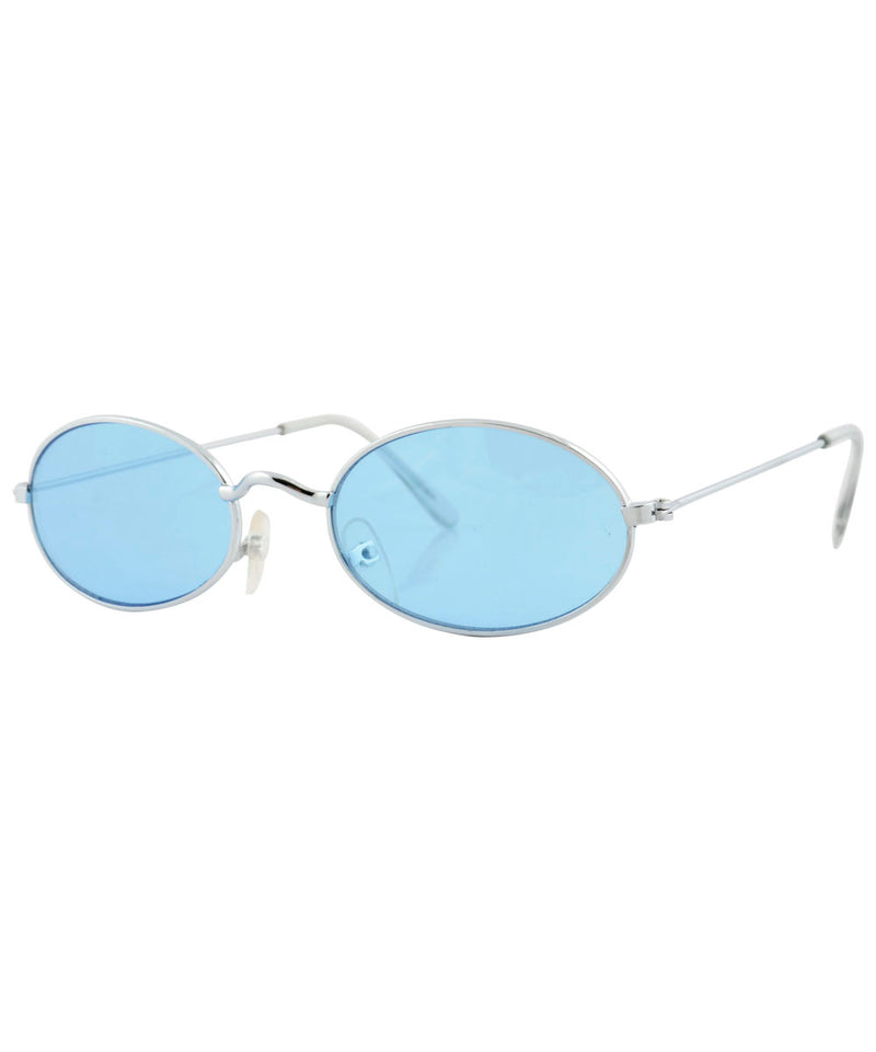upgrade silver blue sunglasses
