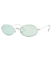 upgrade silver green sunglasses