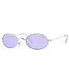 upgrade silver purple sunglasses