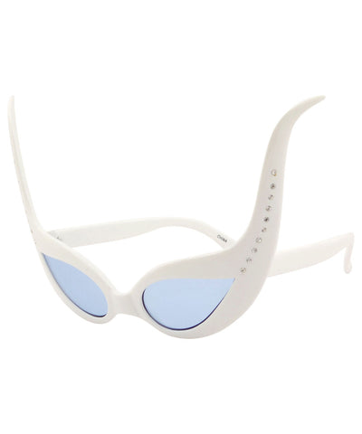 ursula white blue sunglasses