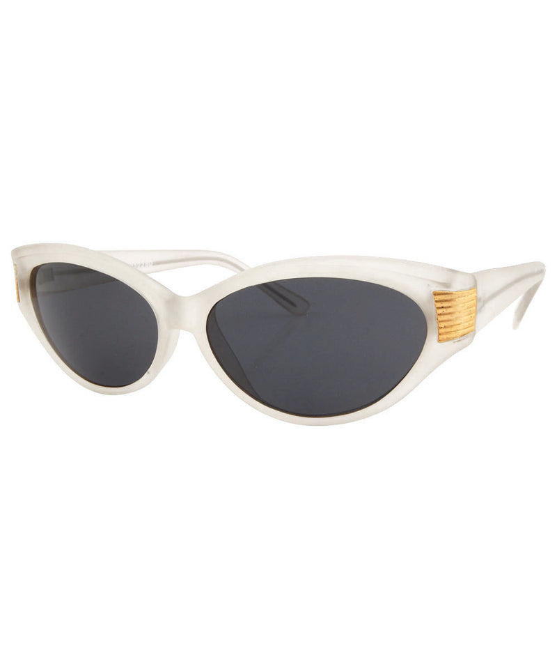 VA-VOOM Frost/Gold Cat-Eye Sunglasses