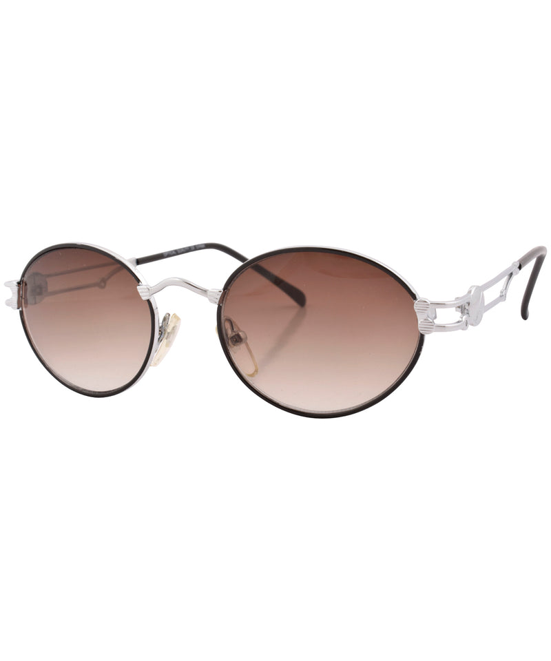 vault black silver sunglasses