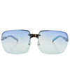 VEGAS Blue Rimless Sunglasses