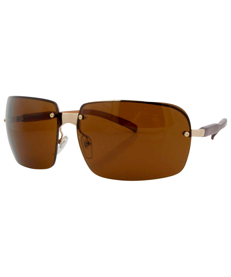 vegas brown gold sunglasses