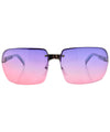 VEGAS Purple/Pink Rimless Sunglasses