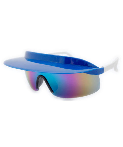 visor xl blue white sunglasses