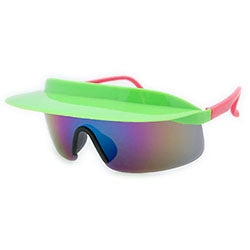 visor xl green pink sunglasses