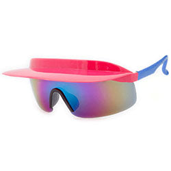 visor xl pink blue sunglasses