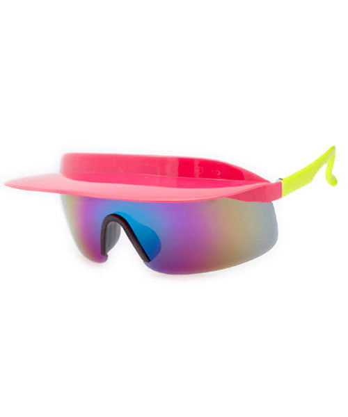 visor xl pink yellow sunglasses