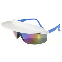 visor xl white blue sunglasses