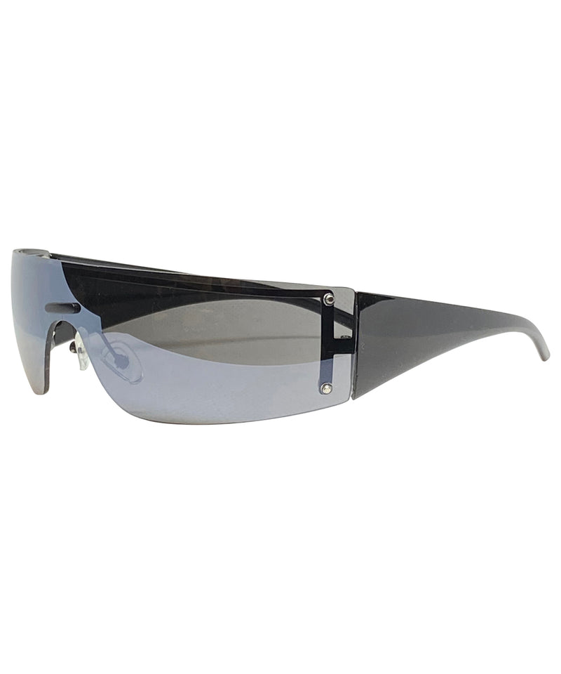 VIZION Black Shield Sunnies