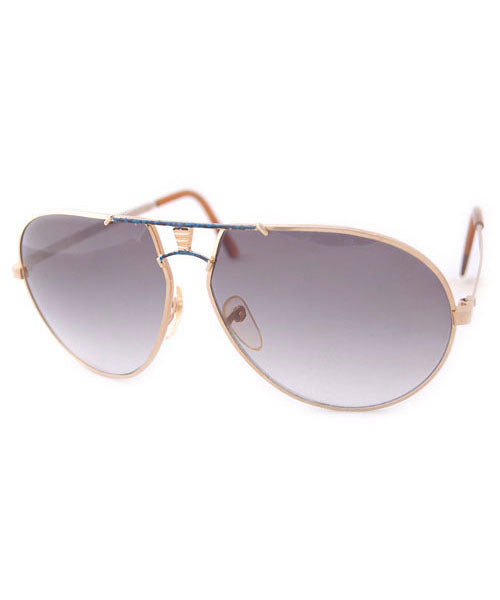 volume gold blue sunglasses