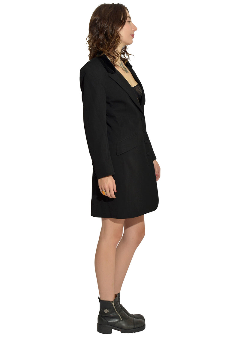 Velvet Collar Express Dress Jacket