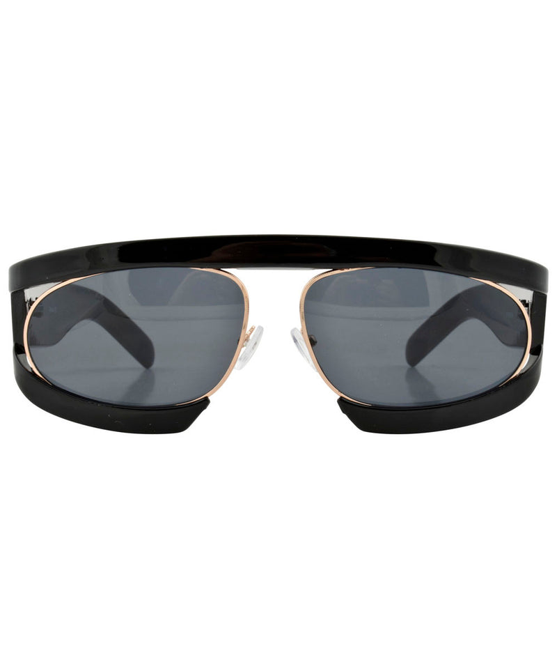 WEEZIE Black Fashion-Forward Sunglasses